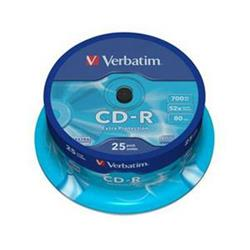 Verbatim CD-R 700MB/80MIN 52x EXTRA PROTECTION 25-SPINDL