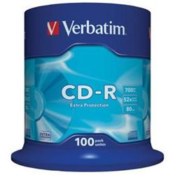 Verbatim CD-R Extra Protection 700MB 48x spindl 100 ks