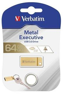 VERBATIM Store 'n' Go Metal Executive 64GB USB 3.0 zlatá